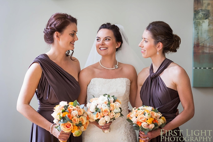 portrait of bride and bridesmaids