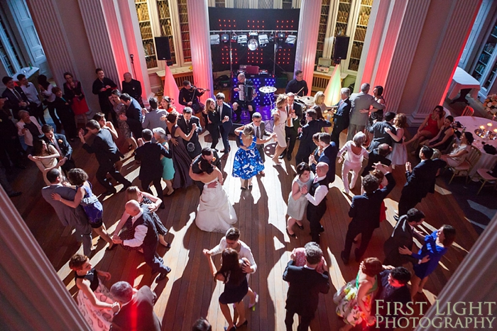 First dance in Signet Library upper library
