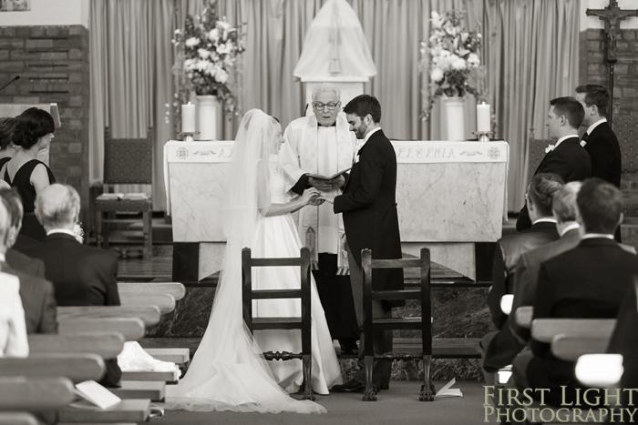 wedding photography at St peters catholic church