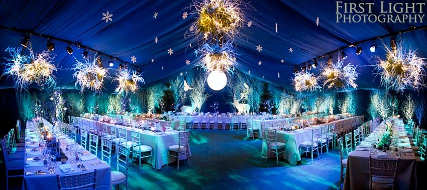 Winter wonderland wedding with Enchanted Forest theme