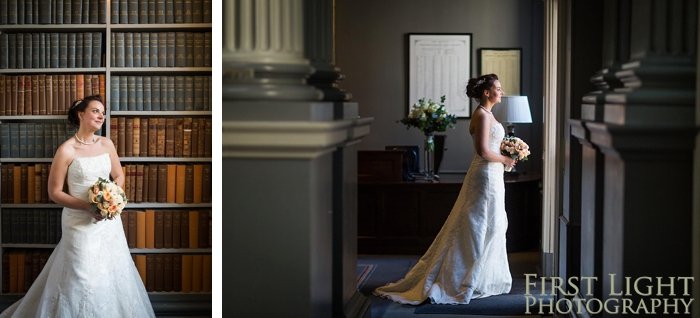 Bride portrait in signet library
