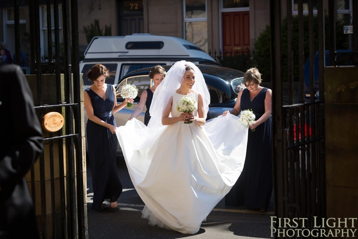 Wedding at St Peters Catholic Church Edinburgh