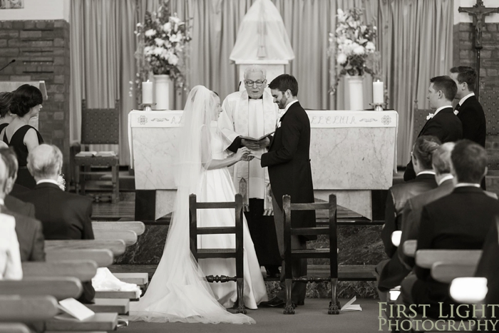 wedding photography at St peters catholic church