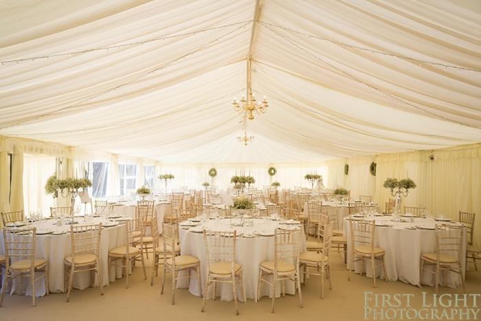 Marquee, Gilmerton House wedding photography