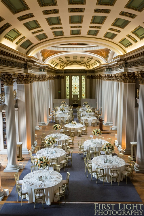 Wedding breakfast in Signet Library upper library