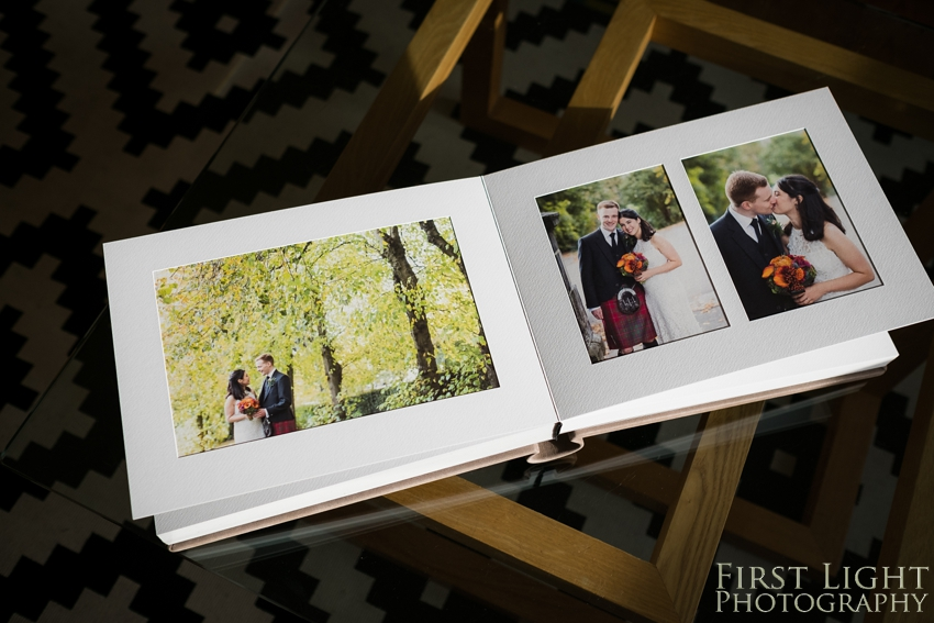 Mounted Wedding Album - Matted overlay album by First Light Photography © Photographed by Ditte Solgaard Dunn, First Light Photography