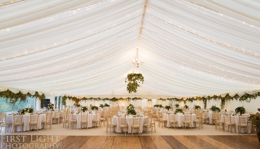 autumn wedding marquee