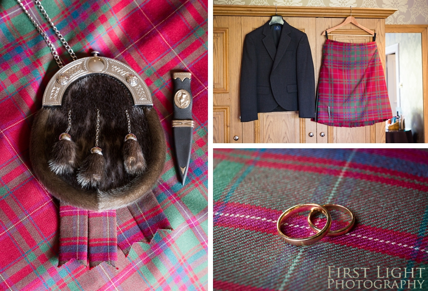 Scottish groom details, wedding photographer Scotland